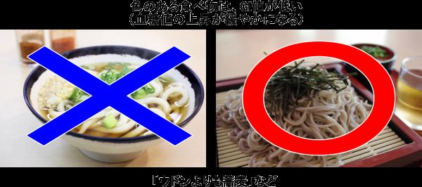 色のある食べ物は、GI値が低い