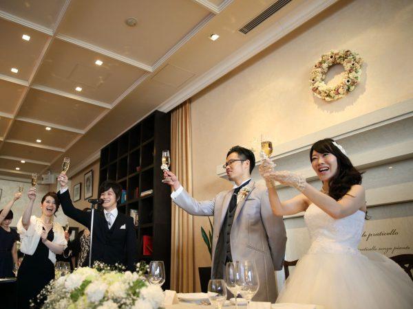 「乾杯!」で披露宴スタート!