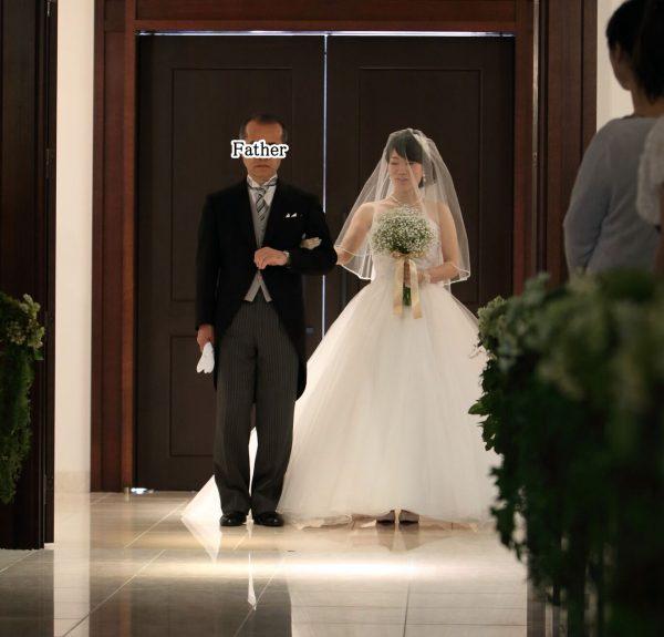 花嫁&お父さんの入場