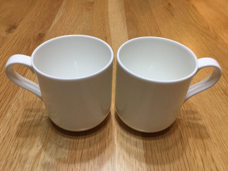 妻へのXmasプレゼントは、お揃いのマグカップでした
