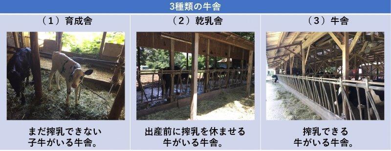3種類の牛舎